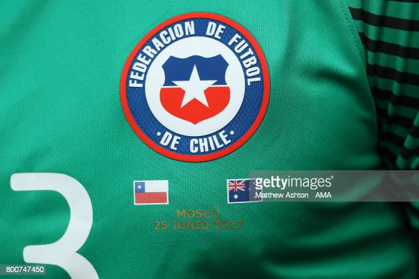 Detail View of the shirt of Johnny Herrera of Chile during the FIFA Confederations Cup Russia 2017 Group B match between Chile and Australia at...
