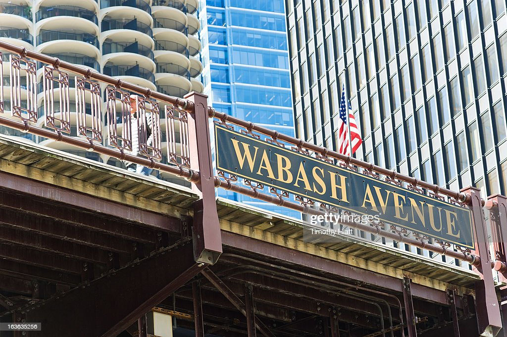 A detail view of the Wabash Avenue Bridge on March 13, 2013 in Chicago, IL.