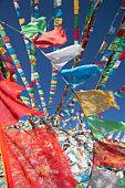 detail view prayer flags
