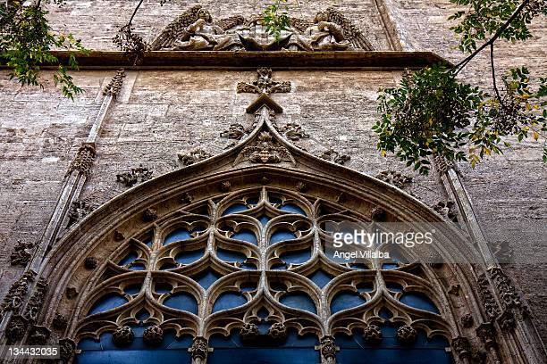 Detail window Lonja de la Seda