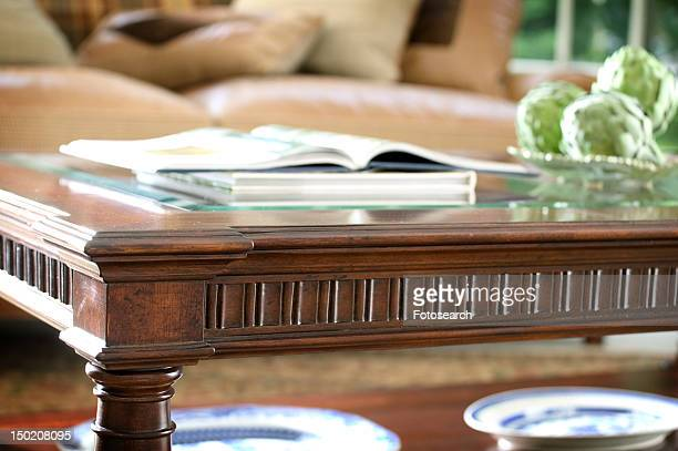 Detail wooden coffee table