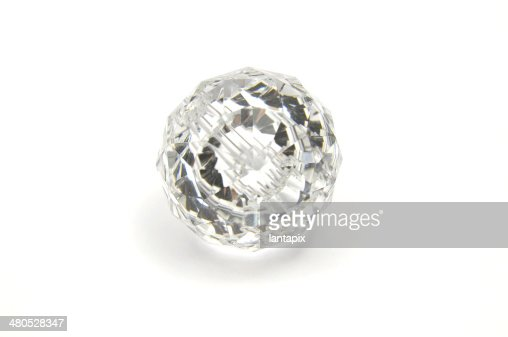 Detailed and colorful image of glass crystal : Stock Photo