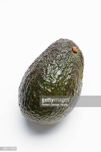 Detailed close-up of an organic avocado