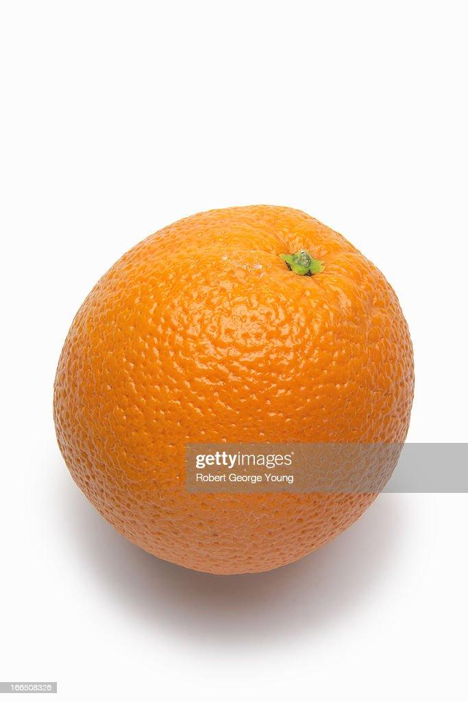 Detailed close-up of an organic orange : Stock Photo