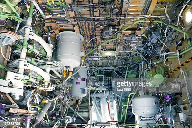 Detaillierte Belichtung eines turbo jet engine