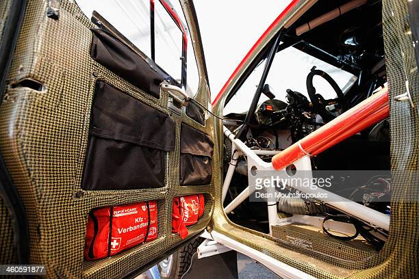 A detailed look at the safety precautions including carbon fibre door lining medical kit and roll cage in the vehicle from Leeroy Poulter and Robert...