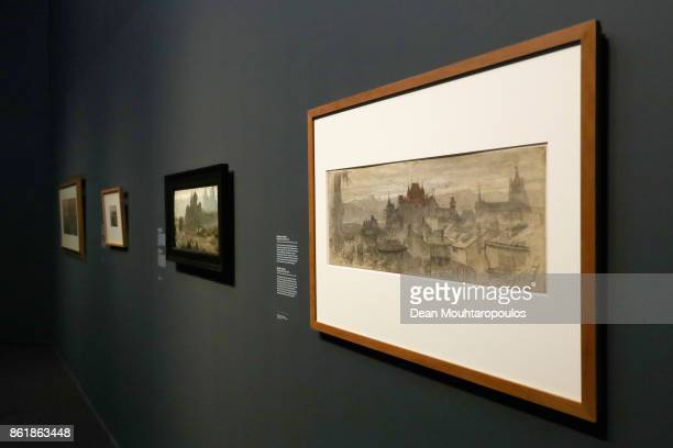 A detailed look at View of Lausanne by Matthijs Maris during a special exhibition held at the Rijksmuseum Exhibition on October 13 2017 in Amsterdam...