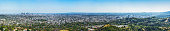 Detailed Panoramic view of Los Angeles from Griffith Observatory