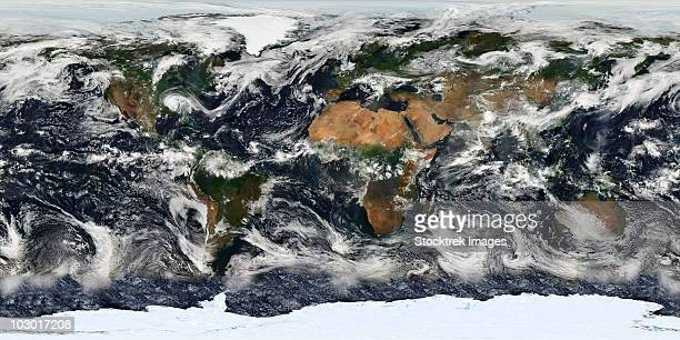 Detailed satellite view of Earth.