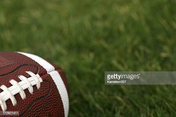 Detailed shot of football