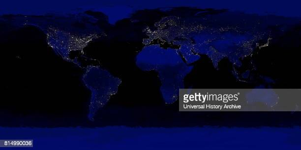 Detailed truecolour image of the entire Earth at night Using a collection of satellitebased observations scientists and visualizers stitched together...