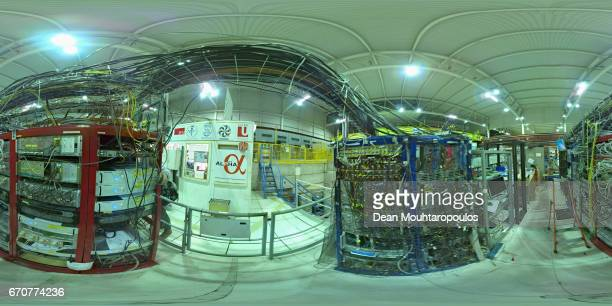 A detailed view in the Antimatter Factory working area during a behind the scenes tour at CERN the World's Largest Particle Physics Laboratory on...