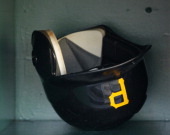 A detailed view of a batting helmet during the game between the Pittsburgh Pirates and the New York Mets on June 11 2011 at PNC Park in Pittsburgh...