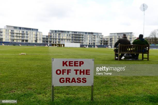 Detailed view of a sign during the Pre Season match between Gloucestershire and Durham MCCU at the Brightside Ground on March 28 2017 in Bristol...