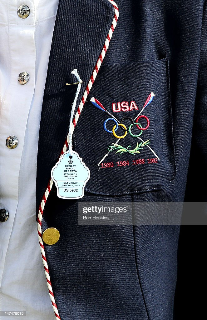 A detailed view of a spectators blazer during the fourth day of the 2012 Henley Royal Regatta on June 30 2012 in HenleyonThames England