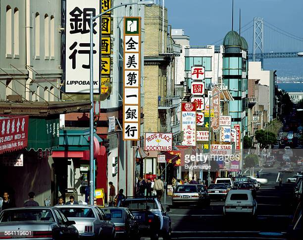 Detailed view of Chinatown in San Francisco California