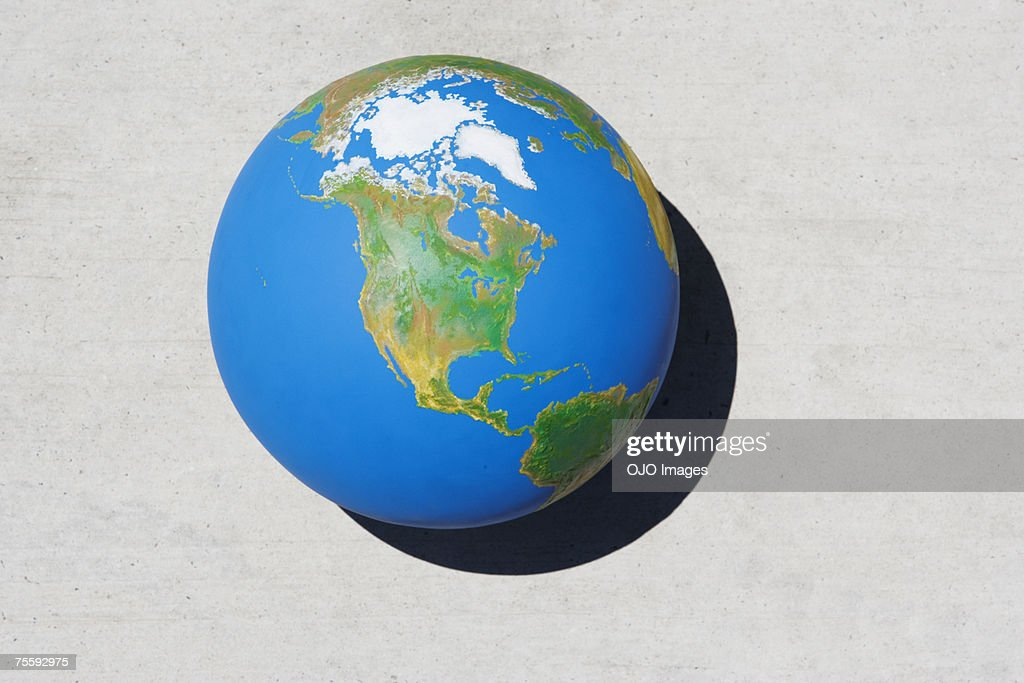 Detailed view of globe : Stock Photo