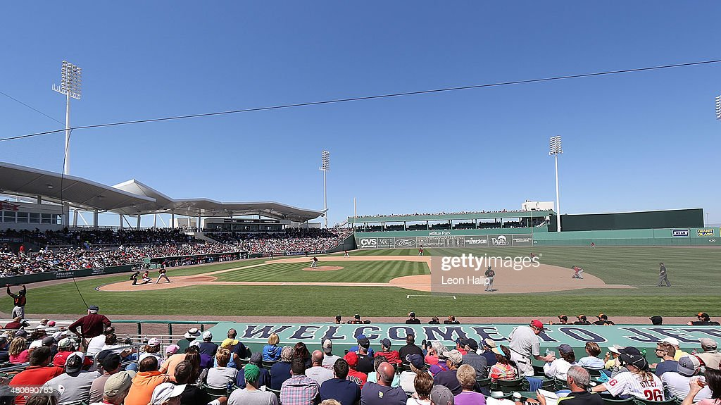 A detailed view of JetBlue Park at Fenway South during the game between the Baltimore Orioles and the Boston Red Sox on March 26 2014 in Fort Myers...