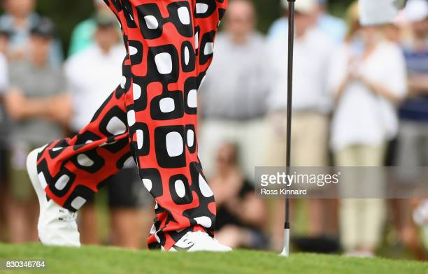 A detailed view of John Daly of the United States' pants during the second round of the 2017 PGA Championship at Quail Hollow Club on August 11 2017...