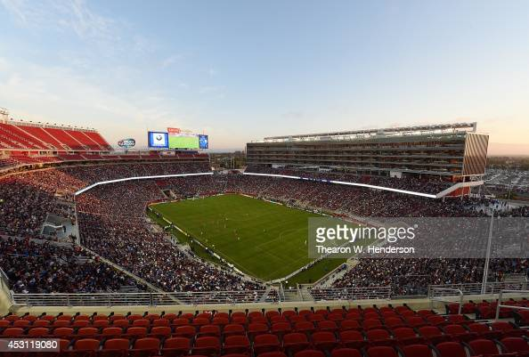 A detailed view of Levi Stadium during an MLS Soccer game between the Seattle Sounders FC and San Jose Earthquates on August 2 2014 in Santa Clara...