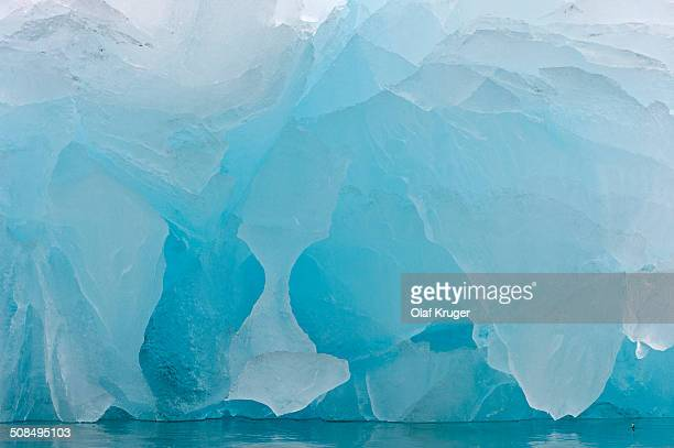 Detailed view of the ice, Monacobreen glacier, Liefdefjorden fjord, Spitsbergen, Svalbard Islands, Svalbard and Jan Mayen, Norway