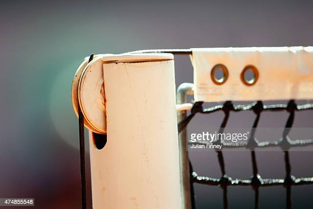 A detailed view of the net during day four of the 2015 French Open at Roland Garros on May 27 2015 in Paris France