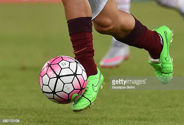 A detailed view of the Nike shoes worn by Francesco Totti of AS Roma in action during the Serie A match between AS Roma and Carpi FC at Stadio...