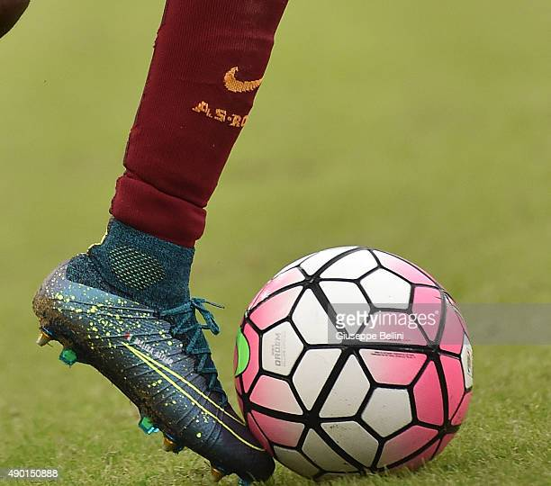 A detailed view of the Nike shoes worn by Gervinho of AS Roma in action during the Serie A match between AS Roma and Carpi FC at Stadio Olimpico on...