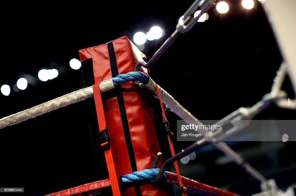 A detailed view of the ring during day one of the Boxing Elite National Championships at Echo Arena on April 29, 2016 in Liverpool, England.