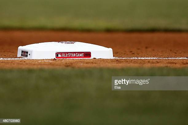 A detailed view of the third base is seen during the 86th MLB AllStar Game at the Great American Ball Park on July 14 2015 in Cincinnati Ohio