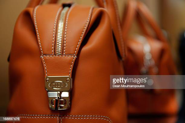 A detailed view of the Tod's products pictured during the Tod's DD Bag Collection Celebration Hosted By Carolina GonzalezBunster CoFounder Of...