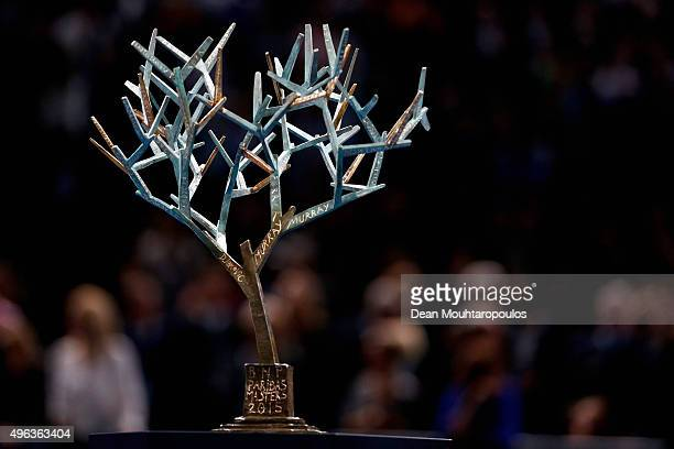 A detailed view of the trophy during Day 7 of the BNP Paribas Masters held at AccorHotels Arena on November 8 2015 in Paris France