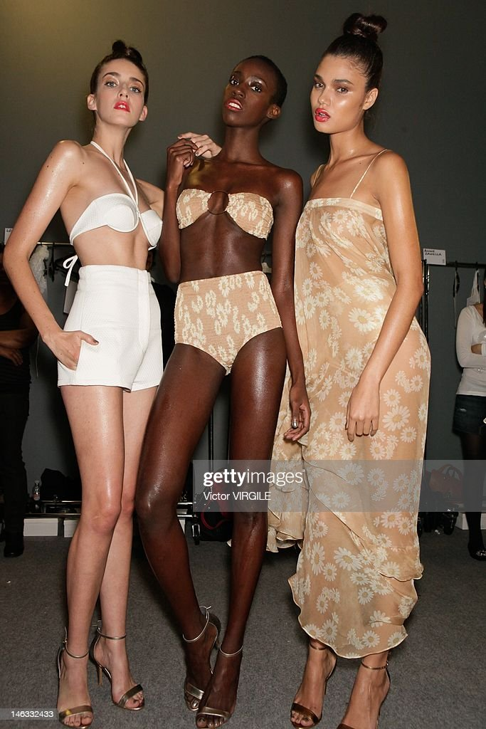 Details and backstage during the Adriana Degreas show as part of the Sao Paulo Fashion Week Spring Summer 2013 on June 13 2012 in Sao Paulo Brazil