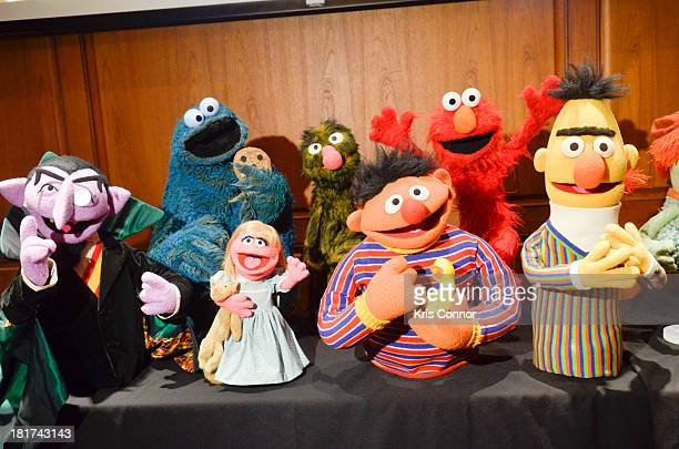 Details as more than 20 puppets and props are donated by the Jim Henson Family including Miss Piggy Elmo Ernie Bert Cookie Monster Count Von Count...