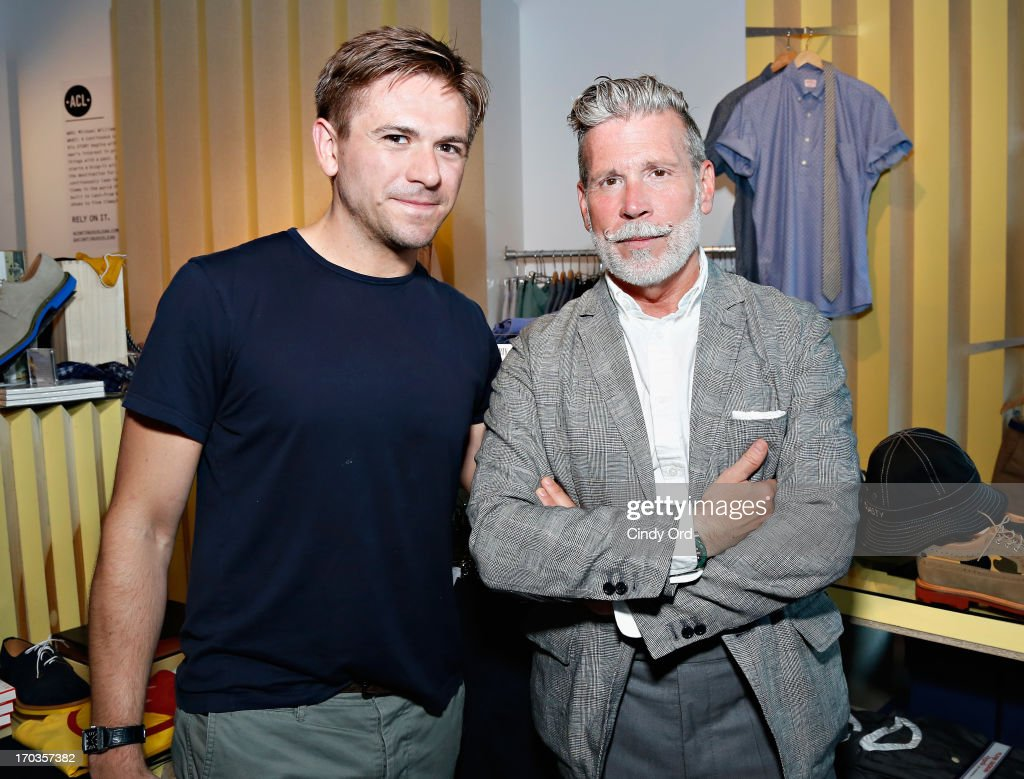 Details magazine market editor Justin Berkowitz and Nick Wooster attend the Birchbox + Details Magazine 'His-Story' event at STORY on June 11, 2013 in New York City.