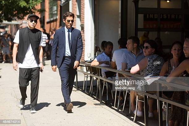 Details Magazine Style Director Eugene Tong and Fashion Director Matthew Marden on Day 1 of New York Fashion Week Spring/Summer 2015 on September 4...
