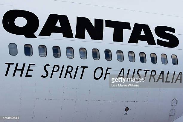 Details of a QANTAS aircraft as seen on display at the QANTAS Founders Museum on March 21 2014 in Longreach Australia The Australian government are...
