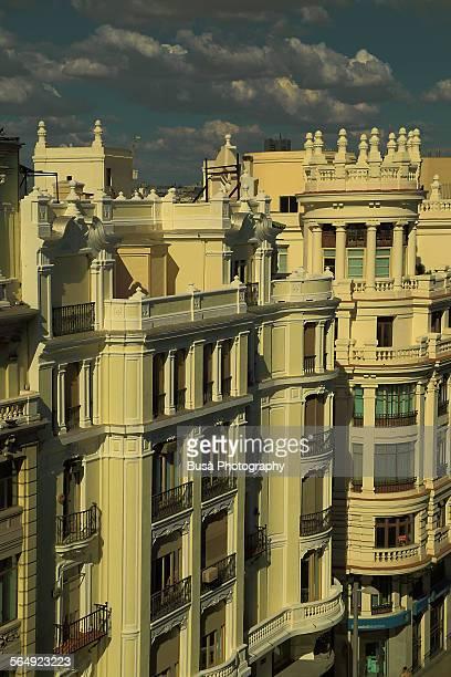 Details of buildings of Gran Via, Madrid
