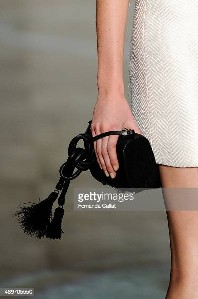 Details of Osklen Runway at SPFW Summer 2016 at Parque Candido Portinari on April 14 2015 in Sao Paulo Brazil