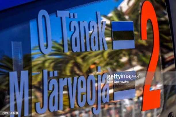 Details of Ott Tanak and codriver Martin Jarveoja of MSport following completion of the Rally de Espana round of the 2017 FIA World Rally...