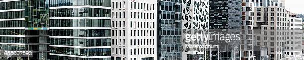Details of the new buildings of Bjørvika Barcode