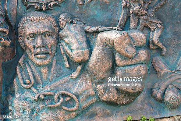 Taino stock photos and pictures getty images for Bas relief mural