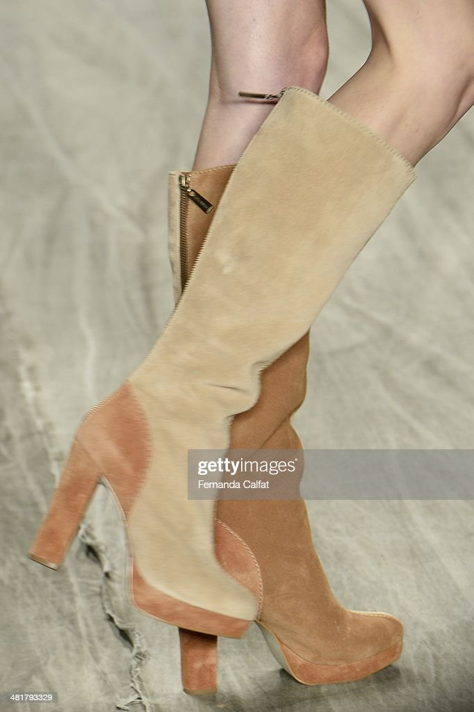 Details of the runway during Cavalera show at Sao Paulo Fashion Week Summer 2014/2015 at Parque Candido Portinari on March 31 2014 in Sao Paulo Brazil