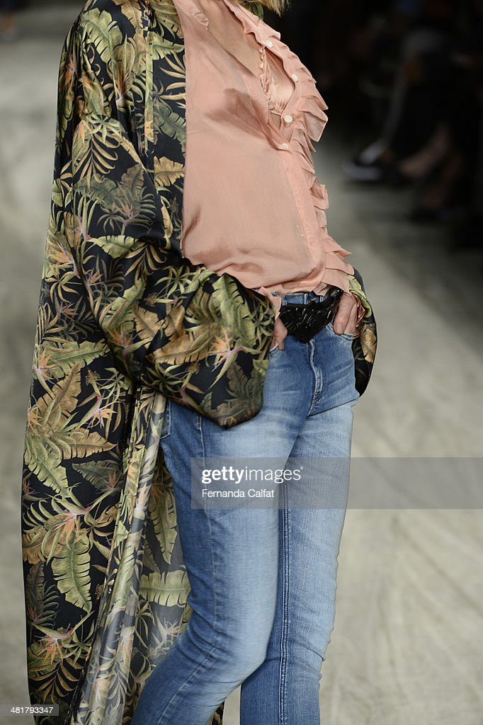Details of the runway during Cavalera show at Sao Paulo Fashion Week Summer 2014/2015 at Parque Candido Portinari on March 31, 2014 in Sao Paulo, Brazil.