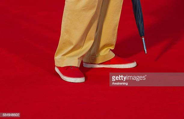Details of the shoes of Ripa di Meana husband of Marina as he arrives for the screening of 'Superstar' during the 69th Venice Film Festival superstar...
