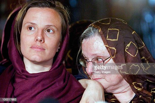 Detained American citizen Sarah Shourd sits with her mother Nora Shourd during their first meeting since her arrest on May 20 2010 in Tehran Iran The...