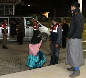 Detained British people arrive at hospital to undergo medical check up and fingerprinting in Hatay southern of Turkey on April 02 2015 Nine British...