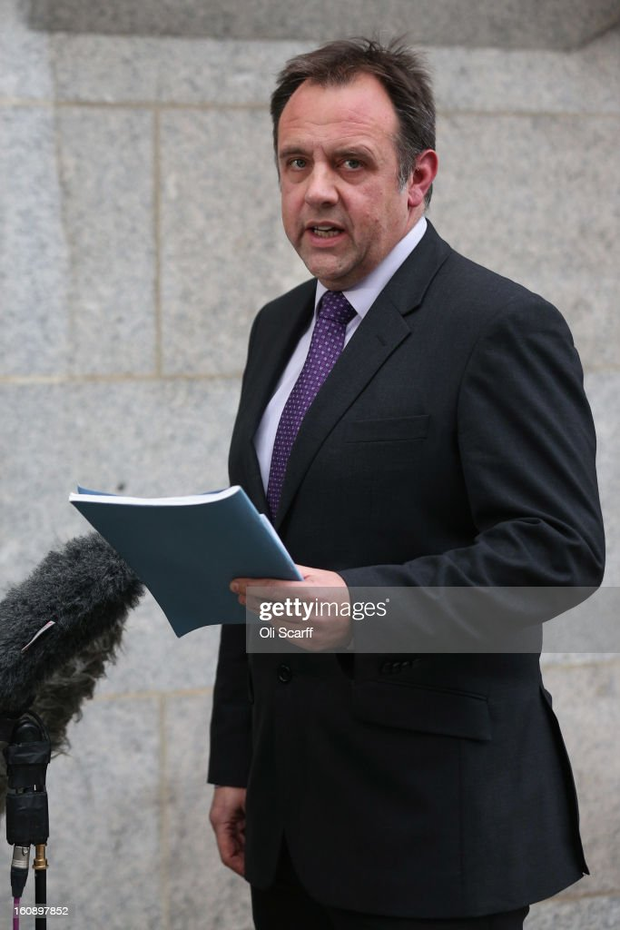 Detective Chief Inspector Graeme Gwyn, of the Homicide and Serious Crime Command, speaks to the media outside the Old Bailey on February 7, 2013 in London, England. Mr Gwyn reported on the conviction of freed killer Nicola Edgington for the murder of innocent stranger Sally Hodkin.