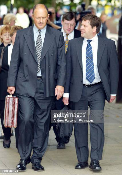 Detective Chief Superintendant Chris Stevenson and Detective Chief inspector Andy Hebb leave Peterborough Magistrates court after Maxine Carr...