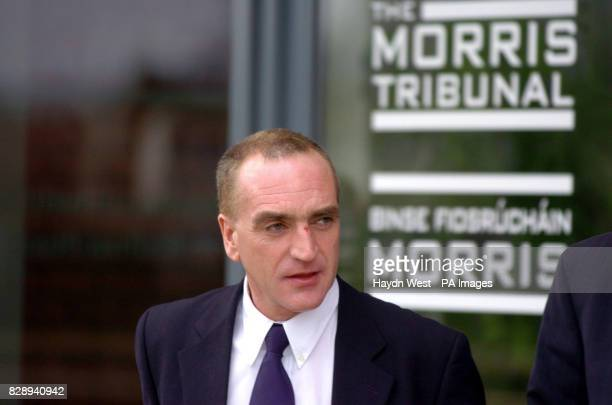 Detective Garda Noel McMahon leaves after giving evidence to the Morris Tribunal in Dublin which is investigating a wideranging series of claims...
